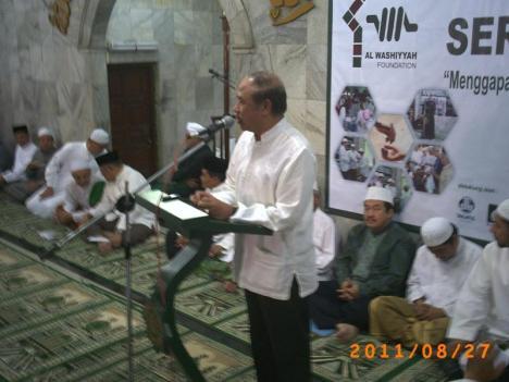 Wakil Gubernur DKI Jakarta, Bapak Prijanto memberi Sambutan